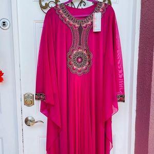 Kaftan Dress Abaya Magenta Maxi NWT